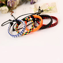 Faux Leather Bracelet Men Women Lace Up Leather Braid Bracelet pulseiras masculina Fashion Jewelry Valentine Gift(China)