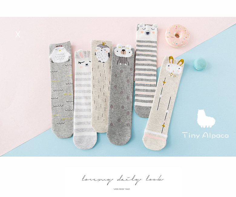 Mubazibabies Cotton Lovely Baby Meias Longas Meias