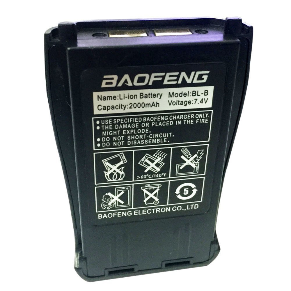 Original Baofeng Uv-b5 Uv-b6 Battery BL-8 2000mah Walk Talkie Parts 7.4V For Dual Band Pofung UV-B5  Two Way Radio Bao Feng Acce