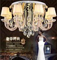 European LED crystal ceiling living room lamp bedroom lamp circular lamps 10 heads circular lamps Free shipping