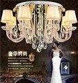 Europeu de cristal teto lâmpada quarto lâmpada sala de lâmpadas 10 cabeças de lâmpadas frete grátis
