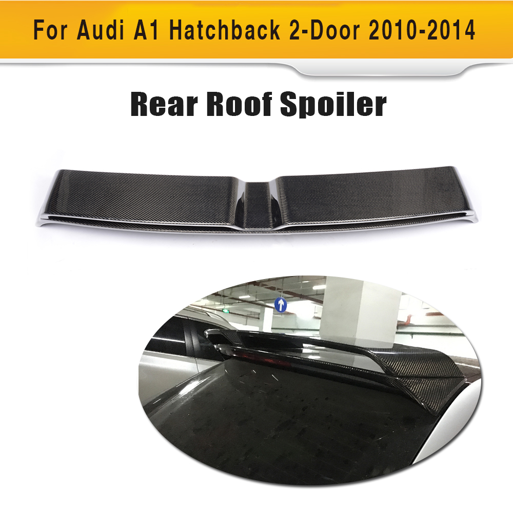 carbon fiber rear roof wing car trunk lip spoiler for audi. Black Bedroom Furniture Sets. Home Design Ideas