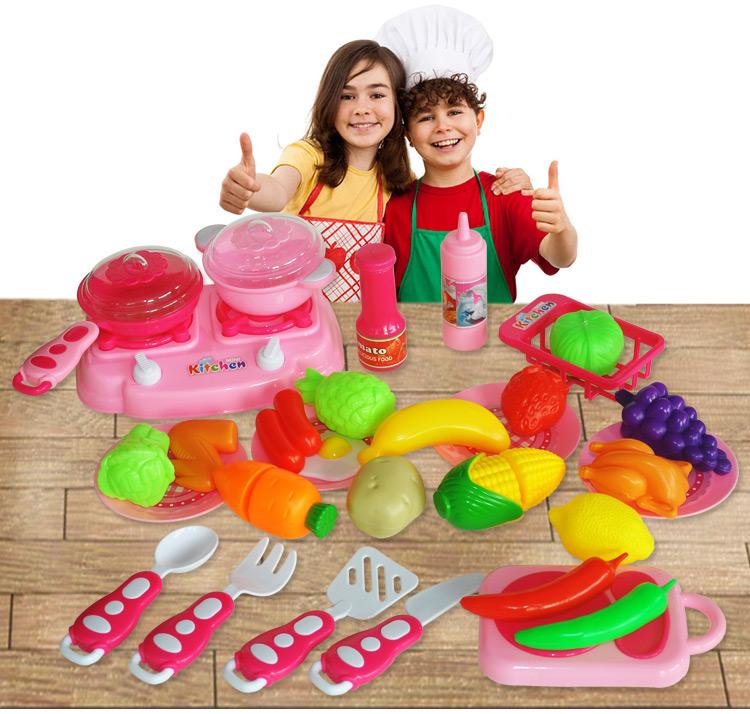 cocina para nios nios pretend play utensilio de cocina conjunto de juguete de plstico mini utensilios