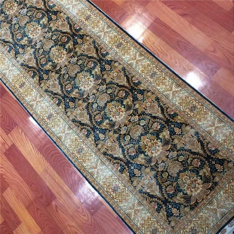 2.5 'x10' fait à la main longue soie tapis couloir coureur tapis décor à la maison Long tapis - 3