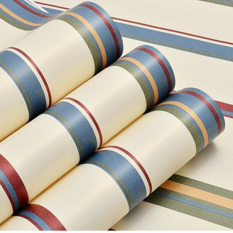 Beibehang wallpaper roll landscape fashion vertical stripes green pure paper 3D wallpaper living room bedroom children's room free shipping british children room pure paper wallpaper star vertical stripes male girl bedroom bedside study wallpaper