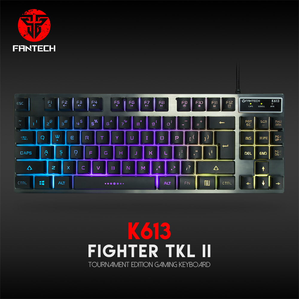 Fantech K613 Professional USB Game Backlit Keyboard 87-Key Wired Game Keyboard Waterproof Mechanical Hand Keyboard For Gamer