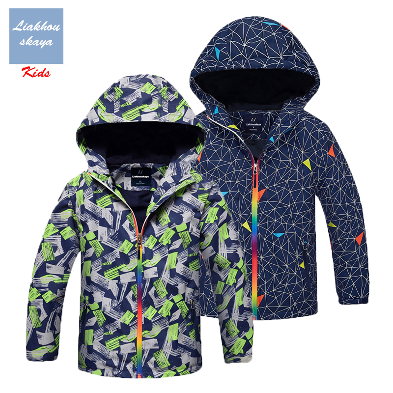 Liakhouskaya Teenage-Jackets Hoodies Windbreakers Spring Water-Proof Fleece Boys Children