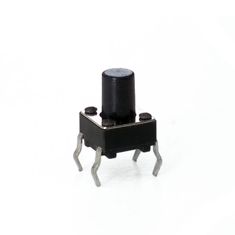 50 unids/lote 6*6*8,0mm 4 PIN tacto 12 V botón Interruptor Micro Interruptor directo top de reinicio automático enchufable