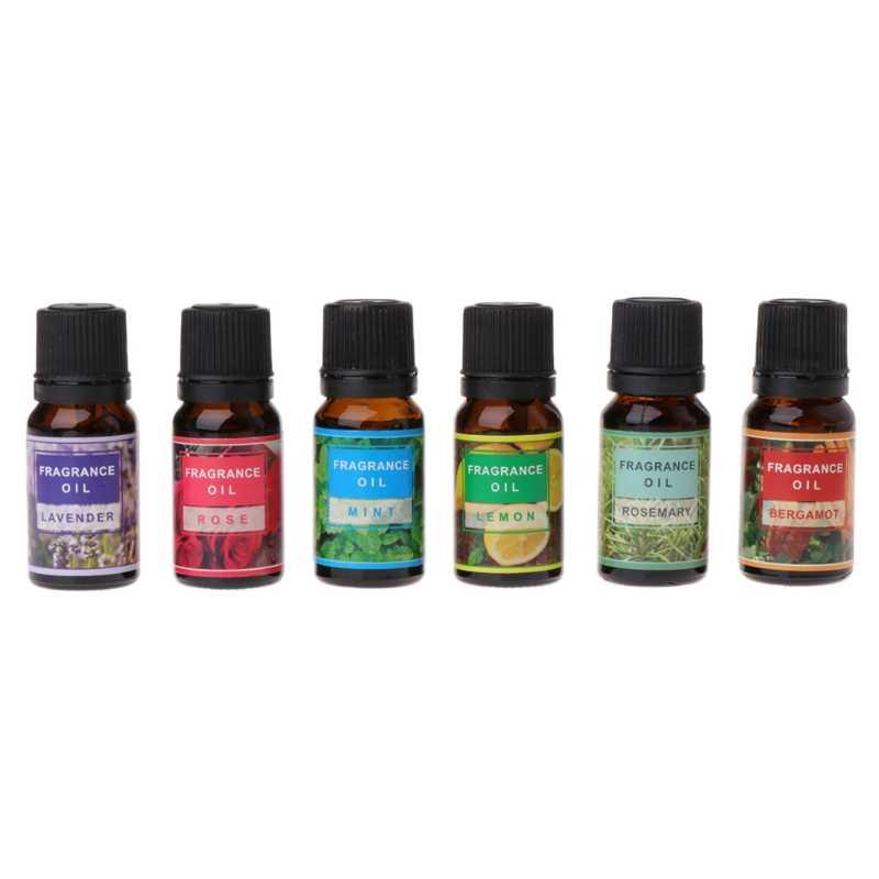 10 ml Lavanda/Rosa/Mint/Limão/Alecrim/Bergamota Óleo Essencial Beleza Da Pele Cuidados de Limpeza Anti -rugas Massagem de Aromaterapia