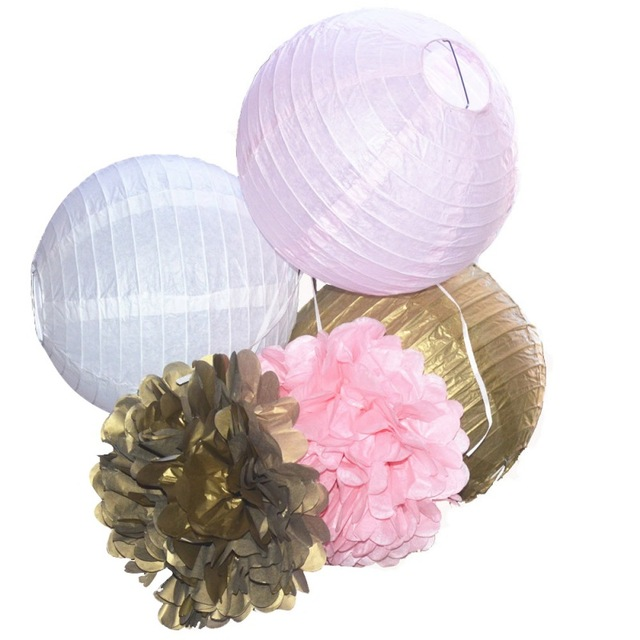 Home Festival Decoration Multiple Colour 8 Inch Pink Gold Paper Hand