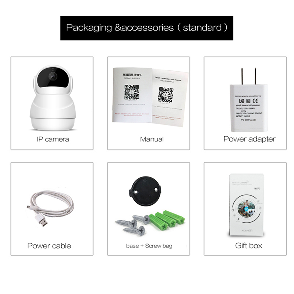 SUCAM 2MP Wifi IP Camera PTZ Mobile View Control Two Way Audio Support 128G 3D Navigation Wireless 1080P Infrared Night Vision 10