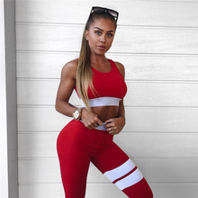 Women Fashion Sporting Tracksuit Workout Leggings Crop Top Two Piece Set Female Sexy Slimming Leggings Push