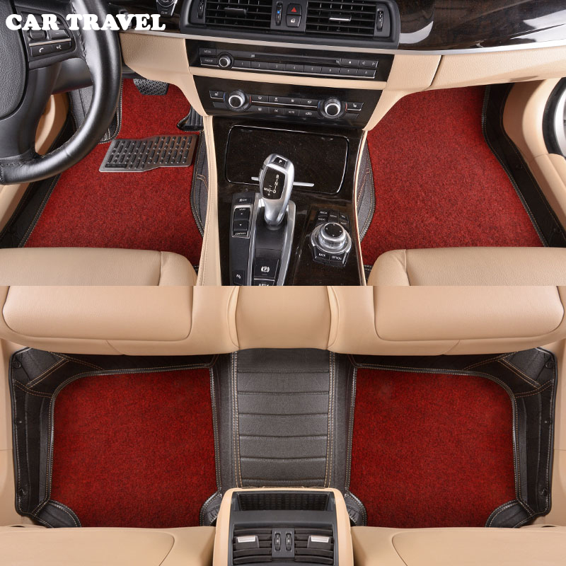 Custom car floor mats for Toyota All Models Corolla Camry Rav4 Auris Prius Yalis Avensis 2014 accessories auto styling floor mat high quality linen universal car seat covers for toyota corolla camry rav4 auris prius yalis car accessories cushions styling