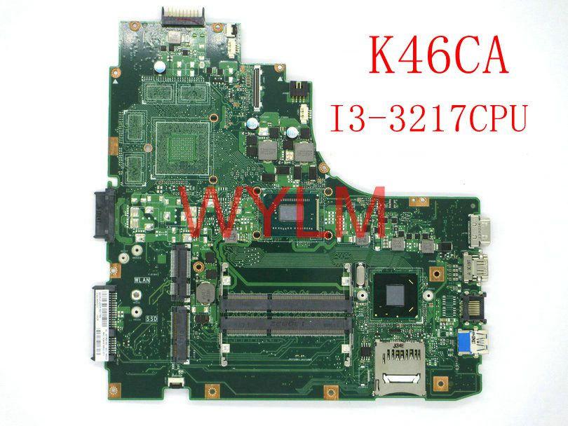 цена на free shipping K46CA With I3-3217 CPU mainboard For ASUS A46C A46CA K46CA K46CM K46CB Laptop motherboard 100% Tested