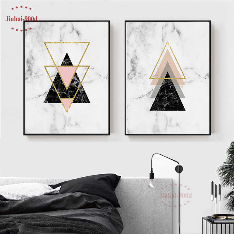 900D Picture Of Rhinestones Wall Art Canvas Paintings For Living Room Wall Canvas Painting Nordic Marble Decorative Picture NR21