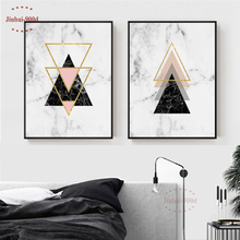 900D Posters And Prints Wall Art Canvas Painting Pictures For Living Room Nordic Marble Picture Decoration NOR021