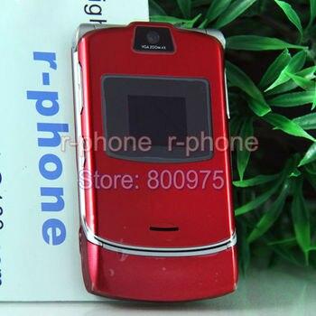 Unlocked Original Refurbished Motorola RAZR V3 Mobile Phone 11 colors in stock feature phone