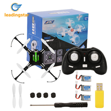 Leadingstar 2.4 GHz 4 Channel 6-Axis Gyro Quadcopter Drone dengan Headless Modus Satu Kunci Auto-Return RC dengan 3 Batterys zk25