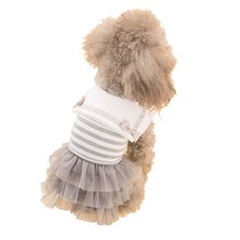 2017 Dog Dress Stripe Cat Pet Clothes Navy Style Costume Sailor Uniform Skirt Summer Puppy Clothes for Small Dogs Apparel Outfit