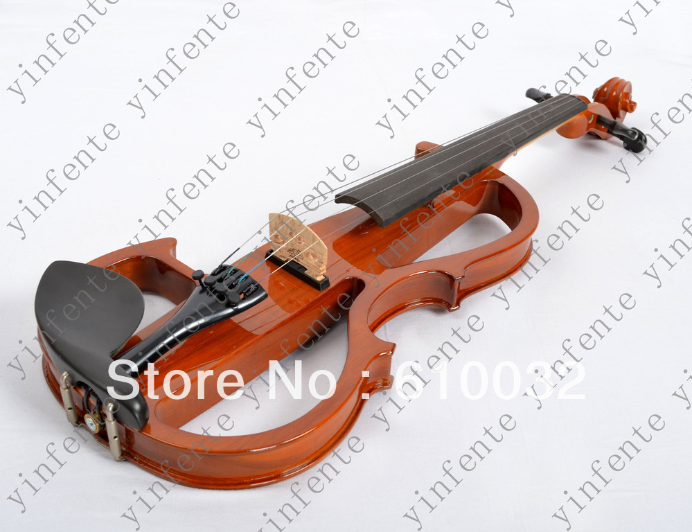 4/4 yellow  4 string Electric violin High quality 4 4 5 string new violin neck man head hand carve high quality 1 2