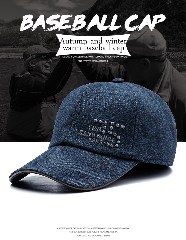 7dc447bef77 2018 New Fashion Baseball Cap For middle-aged Men and Women winter outdoor  ear warm leisure cap hats snapback duckbill cap. 4651174843 1386586361   G14141 01 ...