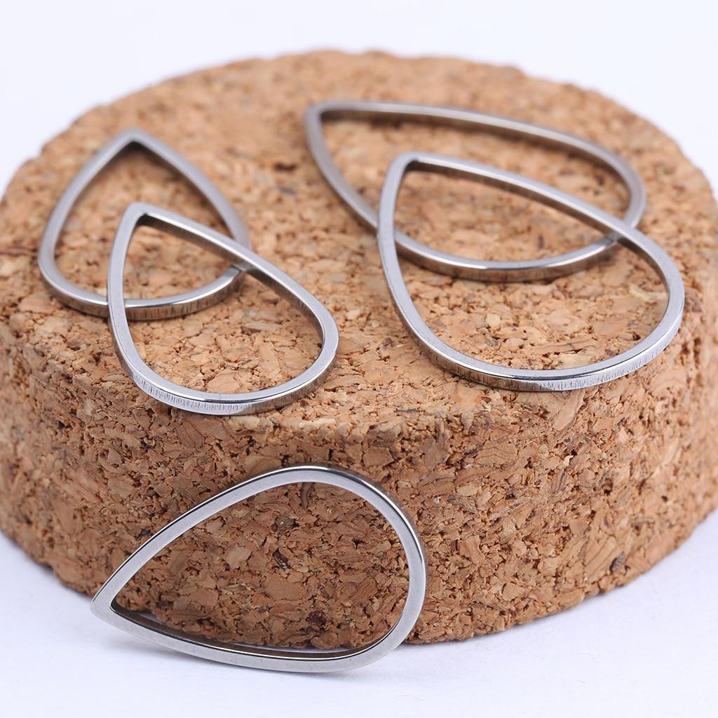 10 Pcs Stainless Steel Teardrop Link Moon Charm Connectors DIY Earring Findings