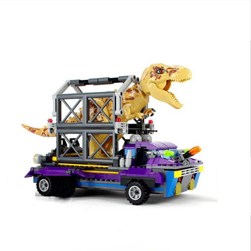Jurassic Dinosaurs TS8001 Arrested Tyrannosaurus Rex Dinosaur Base Escape Building Blocks Toys For kids Christmas Gift Legoiungs 37 cm tyrannosaurus rex with platform dinosaur mouth can open and close classic toys for boys animal model without retail box