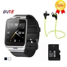 Reloj inteligente Aplus GV18 Reloj de Sincronización de Notifier Tarjeta Sim Soporte de Conectividad Bluetooth para Android Teléfono Smartwatch Reloj