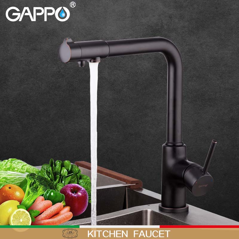 GAPPO Kitchen Faucet Brass Water Tap Waterfall Kitchen Sink Faucet Water Mixer Basin Faucet Mixer Pull Out Kitchen Taps