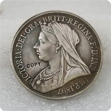 1897 UK Crown Queen Victoria Coin Silver COPY FREE SHIPPING(China)