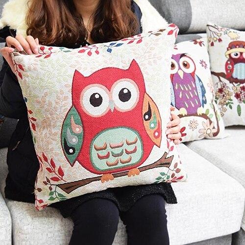 Carino Intelligente Gufi cuscino Biancheria Per La Casa Coperture per Cuscini Co
