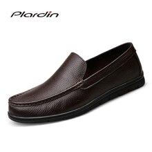 Plardin/2017 Four Seasons моды человек плюс Размеры износостойкости Разделение мягкие удобное платье Вышивание для мужчин обувь из натуральной кожи