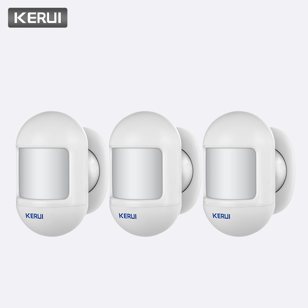 KERUI 3Pcs Wireless Mini Safety PIR Motion Sensor Alarm Detector Built in Battery with magnetic swivel base Home Alarm System