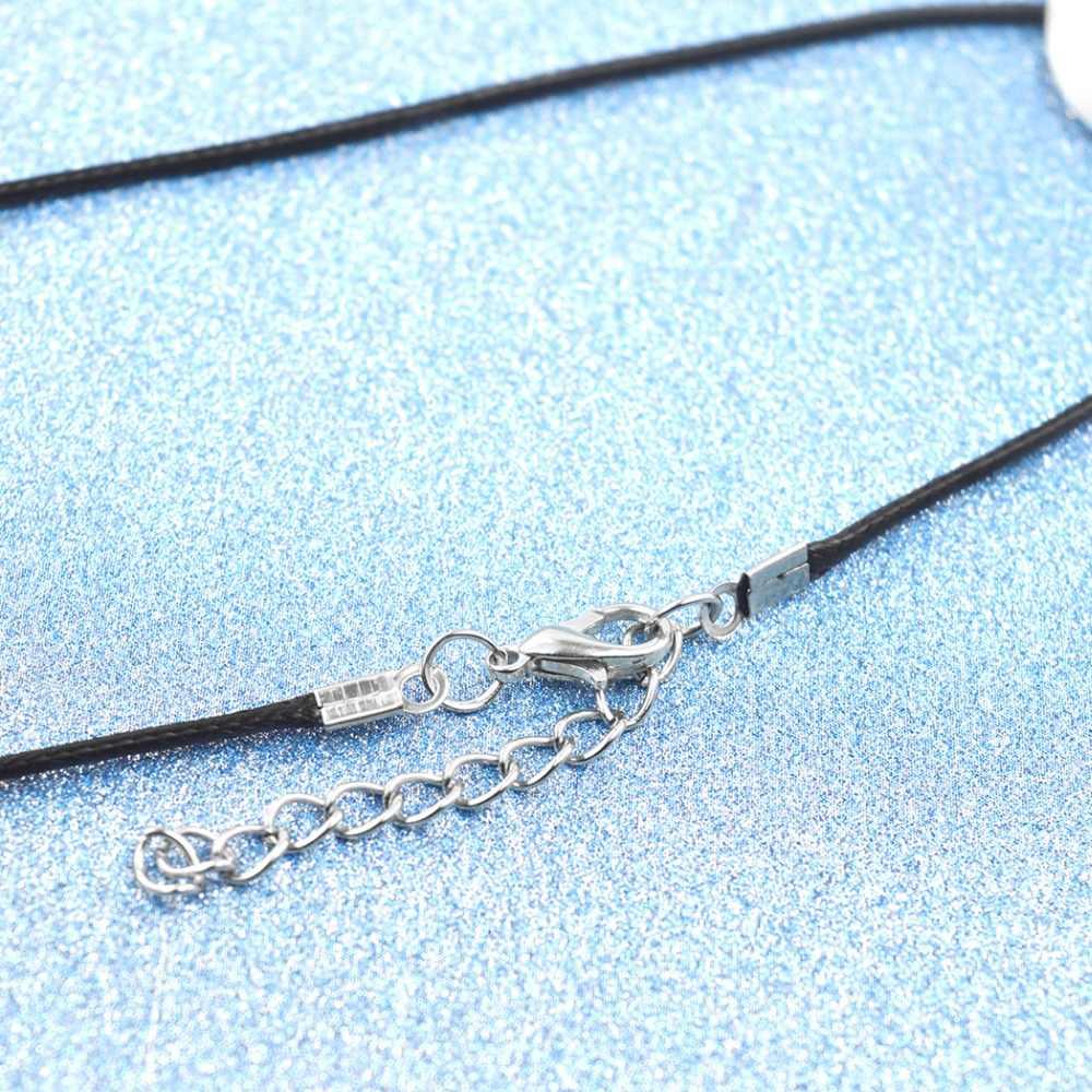 QIMING Ankh egipski krzyż naszyjnik Vintage styl egipski mężczyzn biżuteria Choker srebrna zawieszka antyk naszyjnik przyjaźni prezent