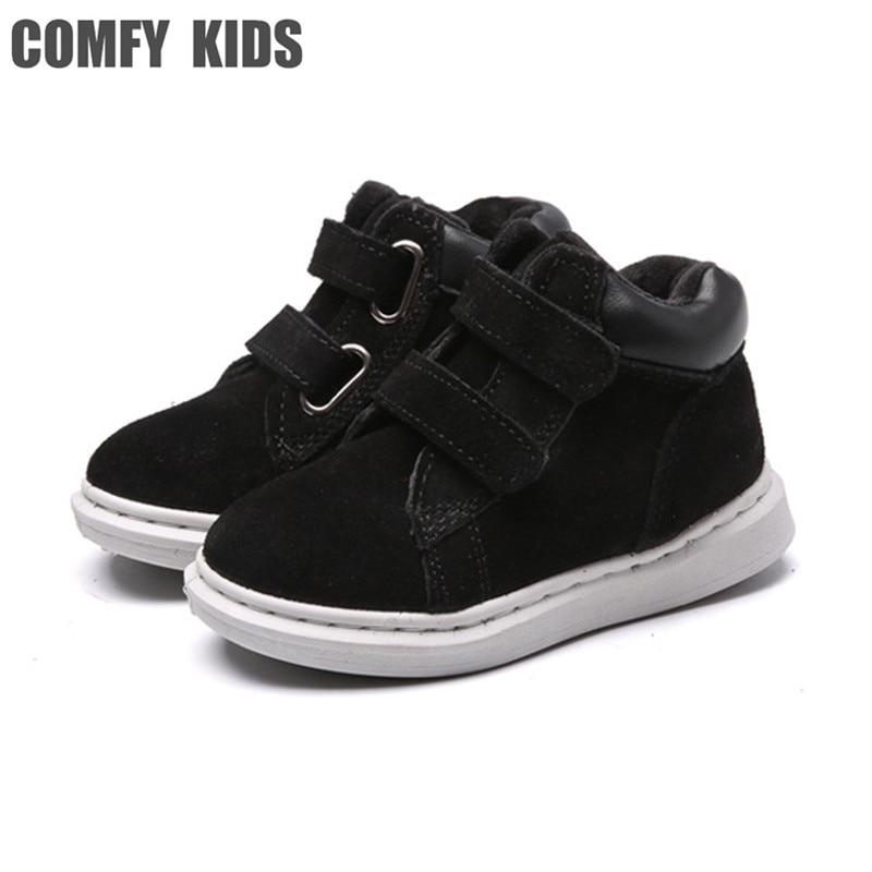 COMFY KIDS Winter Warm Boots Shoes Children's Boots Sneakers Shoes Boys Girls Cotton Shoes Size 23-36 Child Snow Boots Shoes