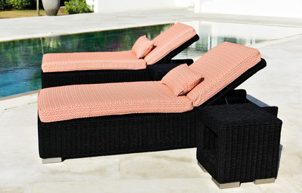 Whole All Weather Pe Rattan Outdoor Furniture Design Poolside Sunbed