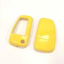 Жесткий Пластик Keyless удаленного брелока защиты оболочки чехол(блеск желтый Цвет) для Audi квадратный клавиатуры
