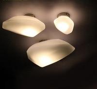 European Living Room Ceiling Lights Glass Surface Mounted Lamp Decor Corridor Balcony Aisle Fixtures E14 Bulb