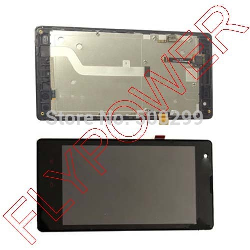 For Xiaomi Red rice Hongmi 1s xiao mi 3G version LCD Display +Digitizer touch Screen +Frame Assembly by Free Shipping