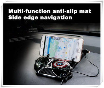Hot Car Styling Anti-Slip Mobile Phone GPS Holder Sticker For Peugeot 2008 3008 4007 4008 5008 508 RXH SW Partner Accessories image