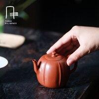 156 мл Исин фиолетовый глина Чайники чисто ручной маленький тыквы Стиль Чай чайник самовар Рождество