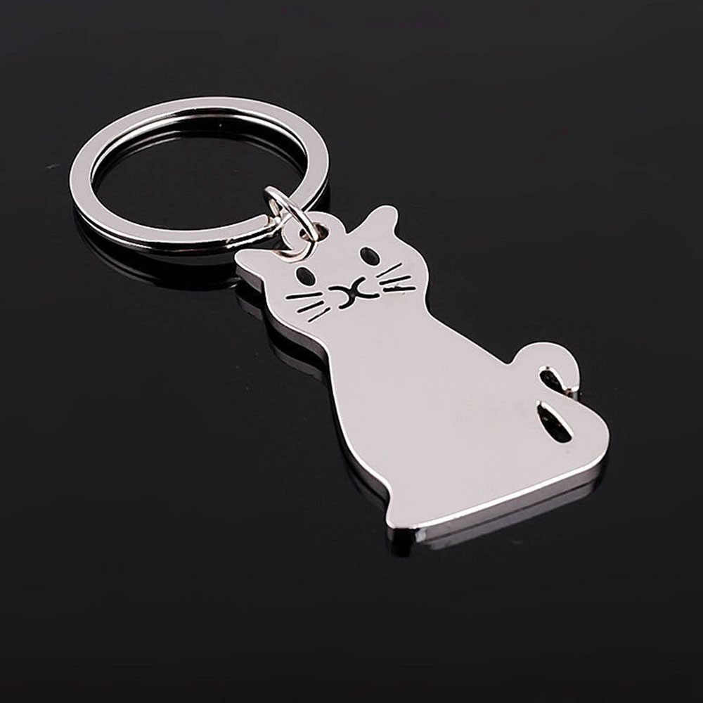 1 шт. творческая кошка Панч металлической перфорации формы модная цепочка для ключей брелок горячий подарок