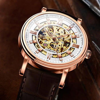 Japan Miyota Movement Watch Men LOBINNI Automatic Mechanical Men Watches Luxury Brand Tourbillon Skeleton reloj hombre L9010