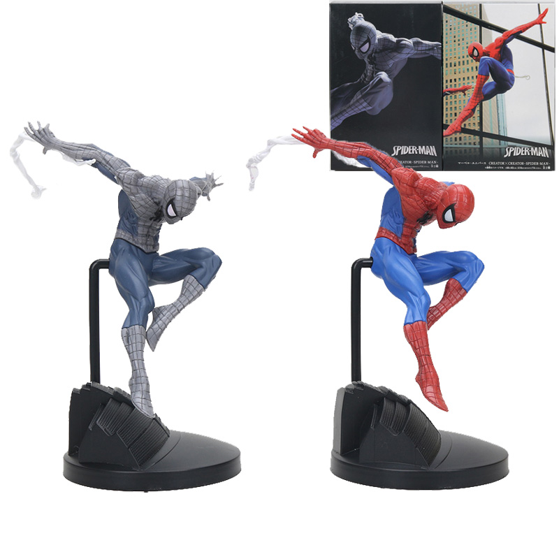 18cm Marvel the avengers Amazing Spiderman creator Action Figure black Spider Man PVC Action Figure Collectible Model Toy Gift