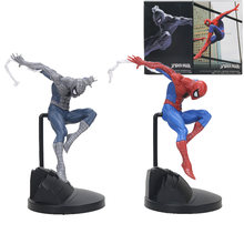 18 cm criador Endgame Amazing Spiderman Marvel the avengers Figura black Spider Man PVC Action Figure Collectible Modelo Toy Presente(China)