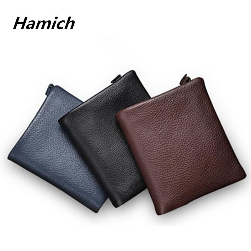 Sepcial offer genuine leather vintage men wallets hot sale high quality cowhide wallets for men soft cow leather wallets