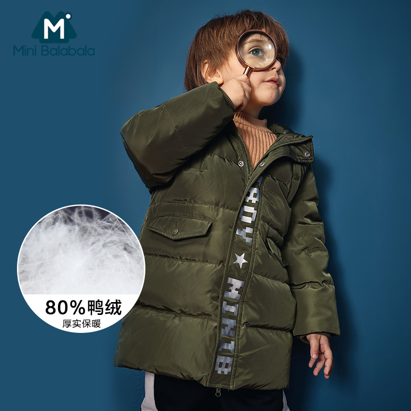 Children s Long Cotton Coat Boys 2018 New Cotton padded Jacket Clothes Girls Baby Thick Hooded