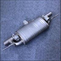 자동차 수정 된 이중 밸브 제어 레이싱 사운드 배기 파이프 2 2.5 3 인치 직경 티타늄 legering 소재 T 형 머플러