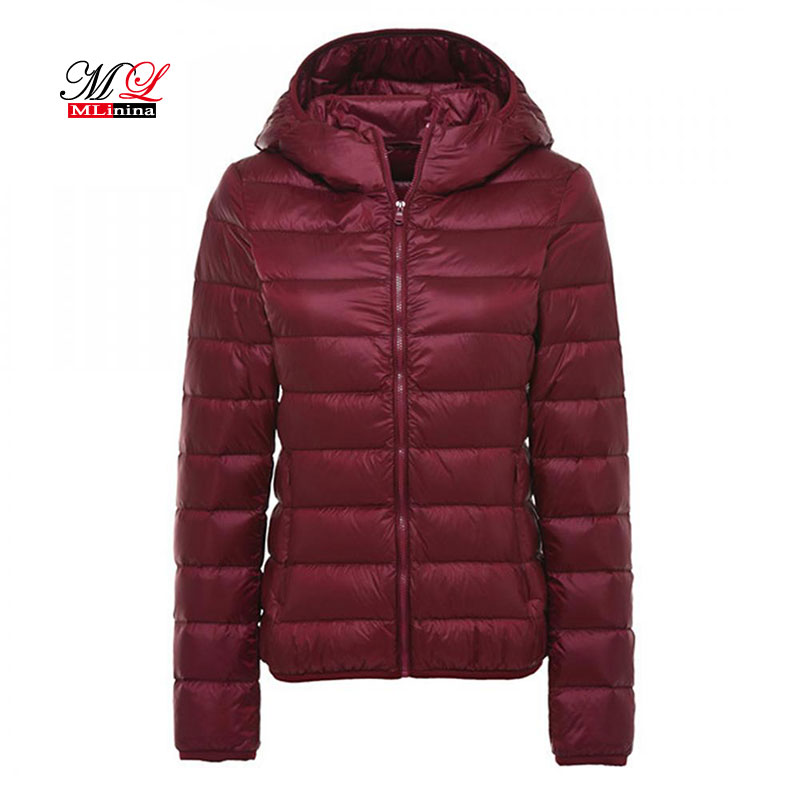 MLinina Women Winter Coat 2018 New Ultra Light White Duck Down Jacket Slim Women Puffer Jacket Portable Windproof Down   Parkas