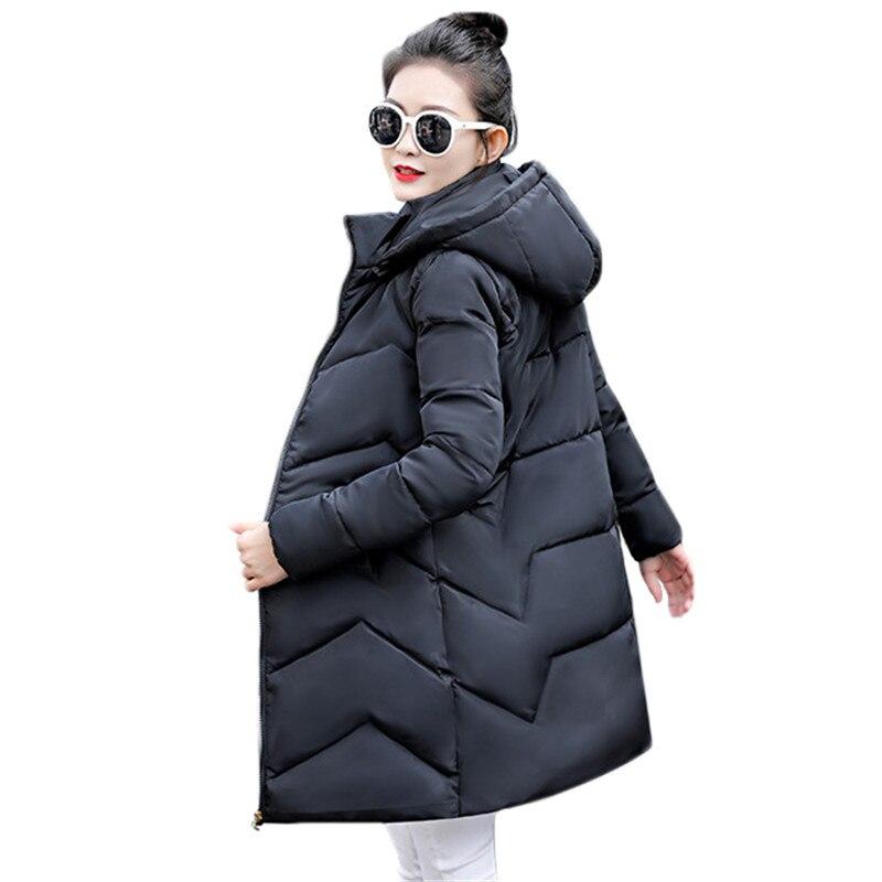Winter Coat Women Black White M-3XL Plus Size Hooded Parkas 2020 Autumn Korean Office Wine Red Long Thick Jackets Feminina CX940